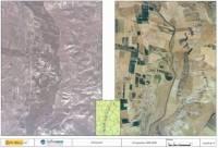 Comparación del cauce del Salado entre 1956 y 2006 a su paso por Torres del Carrizal
